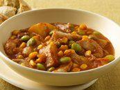curried sweet potato & lentil stew