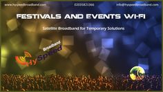 Satellite Internet for Festivals and Wi-Fi Wi Fi, Festivals, Internet, Concerts, Festival Party