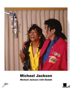 "Michael Jackson with Siedah Garrett recording ""I Just Can't Stop Loving You"", 1987."
