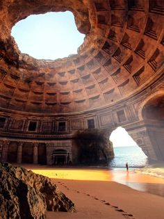 This looks like a cool place. Forgotten Temple of Lysistrata, Portugal  the ocean is my cathedral