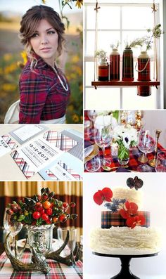 50 Adorable Plaid Wedding Ideas | HappyWedd.com