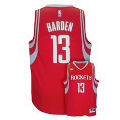 Men's Adidas Houston Rockets James Harden Replica Jersey, Size: Medium, Red