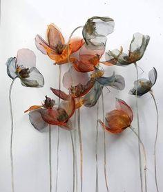 Metal Flowers Michelle Mckinney Artist - All About Art Floral, Deco Floral, Organza Flowers, Fabric Flowers, Paper Flowers, Metal Flowers, Diy Flowers, Creation Art, Art Textile