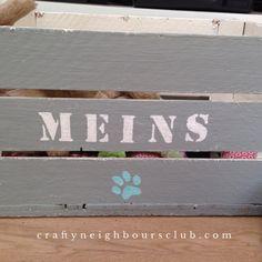DIY-Spielzeugkiste für Hunde