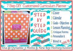 5 Days of Tina's 7 Step DIY Curriculum Planner: Day 5 - Appointment Keeper Calendar