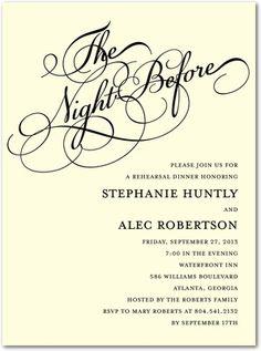 rehearsal dinner favors and decorations | ... Rehearsal Dinner Invitations Black,Wedding Paper Divas rehearsal