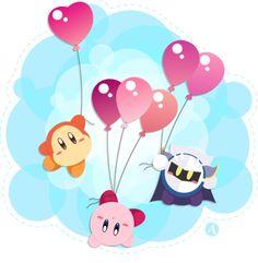 Meta Knight, Kirby , and Waddle Dee