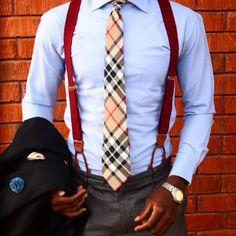 Look de moda: Blazer negro, Camisa de vestir celeste, Pantalón de vestir en gris oscuro, Corbata de tartán marrón claro Suit Fashion, Fashion Outfits, Mens Fashion, Business Casual Outfits, Business Fashion, Moda Men, Large Men Fashion, Moda Formal, Smart Outfit