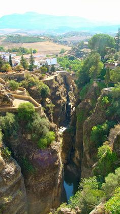 second love. don´t tell Granada.this is what you see from the edge of Ronda. Andalucia Spain, Malaga Spain, Places Around The World, Travel Around The World, Around The Worlds, Places To Travel, Places To See, Wonderful Places, Beautiful Places