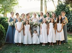 how to coordinate your wedding party especially when having both children and tweens