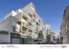 [Collective Housing Atlas] Plein Soleil by RH+ Architecture Architecture Résidentielle, Koh Chang, Roof Detail, Residential Complex, Social Housing, Small Buildings, Inspiration, Paris France, France Area