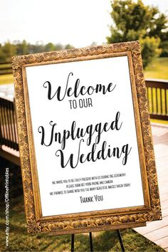 Unplugged Wedding Sign 8x10 Unplugged Sign by OfflinePrintables