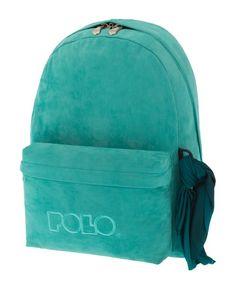 Σακίδιo POLO Velvet Style Τυρκουάζ 9-01-135-65 Velvet Fashion, School Bags, Backpacks, Style, Swag, Backpack, Backpacker, Outfits, Backpacking