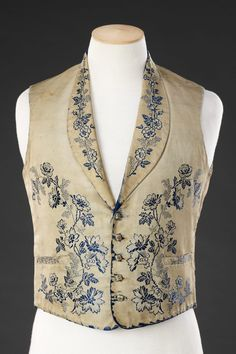 Waistcoat The John Bright Collection 1850s Fashion, Victorian Fashion, Vintage Fashion, Vintage Outfits, Mode Masculine, Antique Clothing, Historical Clothing, Men's Waistcoat, Victorian Costume