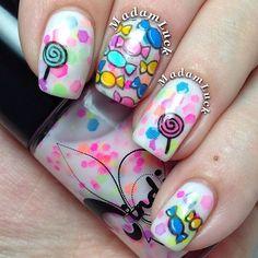 Candy Land Nail Polish from Jindie Nails . Love Nails, How To Do Nails, Pretty Nails, My Nails, Beautiful Nail Designs, Cool Nail Designs, Fabulous Nails, Perfect Nails, Cute Nail Art