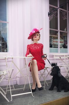 Brighten up a dull day with a touch of French red lace