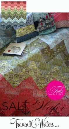 Tranquil Waters Tula Pink--love the fabric and there is a free pattern for this quilt