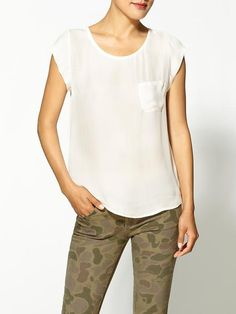 Joie basic white blouse tee to wear with everything