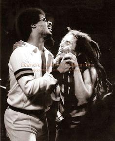 ♫ Bob Marley and Stevie Wonder ♫ 1979