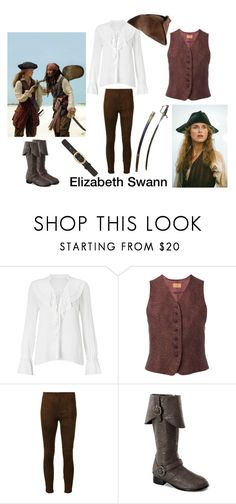 """""""Pirates of the Caribbean Elizabeth Swann inspired outfit"""" by ellie-may346 on Polyvore featuring Miss Selfridge, Disney, Kenzo, Ralph Lauren Collection and A.P.C."""