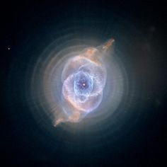 The Cat's Eye Nebula, one of the first planetary nebulae discovered, also has one of the most complex forms known to this kind of nebula. Eleven rings, or shells, of gas make up the Cat's Eye