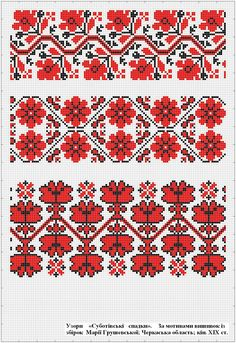 Cross Stitch Borders, Cross Stitch Flowers, Cross Stitch Charts, Cross Stitching, Cross Stitch Embroidery, Embroidery Patterns, Cross Stitch Patterns, Palestinian Embroidery, Hungarian Embroidery