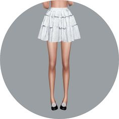 Sims 4 CC's - The Best: Tiered Skirts by Marigold