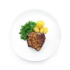 """""""Chaliapin Steak with Sautee Baby Potatoes and Watercress Salad"""" by eric_khm. The Chaliapin Steak is Japans original concoction made in 1939 for the Russian opera singer Feodor Chaliapin when he visited Japan. At the time he was afflicted with toothaches and requested a tender steak and thus the Chaliapin Steak was born! Onions are a good match with steak in order to tenderise it. The Meat Becomes So Tender and Like A5 Beef of Wagyu. #theartofplating #chefstalk #foodart #foodporn #gastronomy…"""