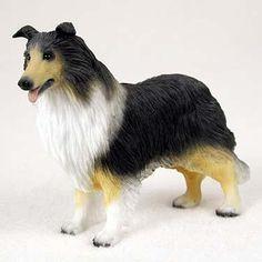 Dog Figurine Collie Tricolor Standard