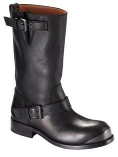 calf leather. biker boot by bottega veneta