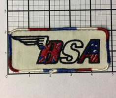 Vintage 1970's BSA motorcycles and sports car patch by RatsHole