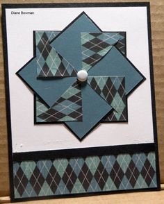 Pinwheel card by Stampinjoyb - Cards and Paper Crafts at Splitcoaststampers