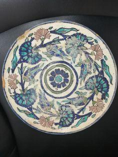 Vintage  Jerusalem Armenian? Pottery PLATE Hand Painted Floral | Pottery & Glass, Pottery & China, Art Pottery | eBay!