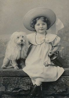 Cute Girl and her dog