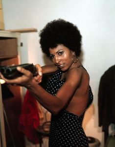 Foxy Brown (1974) - Pam Grier This is actually from the movie Coffy. Don't know who wrote this, but they obviously don't know her movies.
