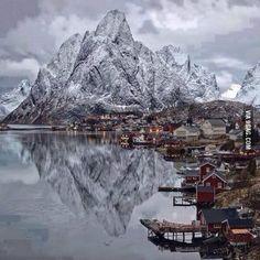 Winter in Lofoten Islands. Norway.