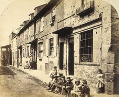 An poster sized print, approx (other products available) - Children sitting on the pavement in New Street, Vauxhall, circa (Photo by Hulton Archive/Getty Images) - Image supplied by Fine Art Storehouse - Poster printed in the USA Vintage London, Old London, Victorian London, South London, Baker Street, Old Images, Old Photos, London History, British History