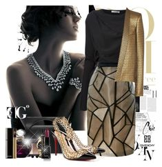 """""""Fashion morning"""" by eleonoragocevska ❤ liked on Polyvore featuring Harry Winston, Givenchy, J.W. Anderson, Sarah Jessica Parker, Bibhu Mohapatra, NARS Cosmetics, Christian Dior, Plein Sud Jeanius, Yves Saint Laurent and Christian Louboutin"""