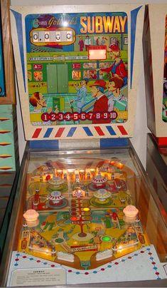 """1966 Subway """"Gottlieb """"Pinball Machine"""