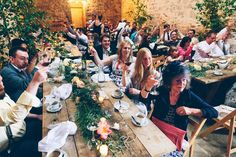 Image by Mister Phill - Rustic Wedding At Stowford Manor Farm With Bride In Mary By Jenny Packham And Groom In Ted Baker With Rustic Trestle Table Style Dining And A Barn Dance