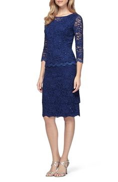Alex Evenings Mock Two-Piece Lace Sheath Dress available at #Nordstrom