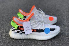size 40 9e551 1412e Custom Off-White x Nike Mercurial Yeezy Boost 350 V2 Cream White  Checkerboard Nike Football