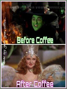 vor dem Kaffee nach dem Kaffee - Wizard of Oz Inspiration - . Coffee Talk, Coffee Is Life, I Love Coffee, Coffee Break, My Coffee, Morning Coffee, Coffee Lovers, Coffee Mugs, Coffee Shop