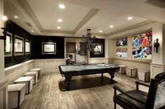 In the man cave tonight! 😎 game room basement, basement colors, basement p Basement Colors, Game Room Basement, Man Cave Basement, Basement Plans, Basement Remodeling, Garage Room, Basement Bathroom, Basement Ideas, Entertainment Stand