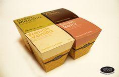 Love the waffle cone idea!   Creamy Delight Premium Homemade Ice Cream Package by Serena C., via Flickr