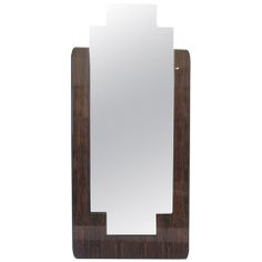 Elegant French Art Deco Macassar Mirror L 36 in.	 D 1 in.	 H 6 ft. 7 in. $5,000