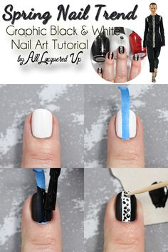 Spring 2015 Nail Trend – Graphic Black and White Nail Art Tutorial