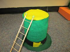 Leprechaun Traps - traps made by students to try to catch a leprechaun in our classroom!