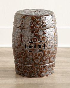 It's outdoor time! This Bronze Porcelain Garden Seat is a #bargain. $79 (reg$212) #saleendssoon