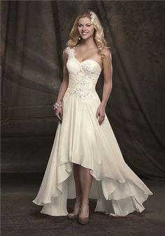 high low hem wedding dress stellastarlight | pretty lights